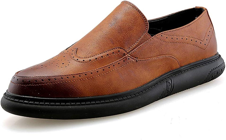 Herrenmode Herrenmode Herrenmode Oxford beiläufige niedrige Spitzenwiederherstellungs-Farbe bequemes schnitzen Brogue Schuhe,Grille Schuhe (Farbe   Braun, Größe   38 EU)  5d2dcc