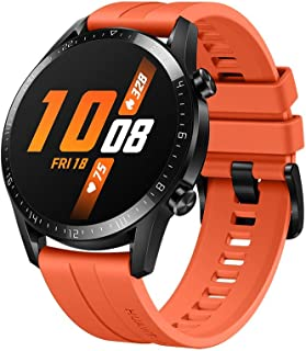 Huawei Watch GT 2 2019 Bluetooth SmartWatch, Longer Lasting 2 Weeks Battery Life, Waterproof, Compatible with iPhone and Android, 46mm (Sunset Orange)
