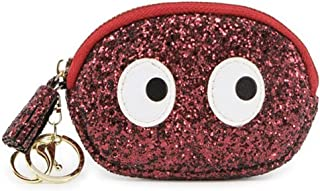 Longjet Key Chain with Wallet Mini Coin Purse Cute Change Pouch with Clasp