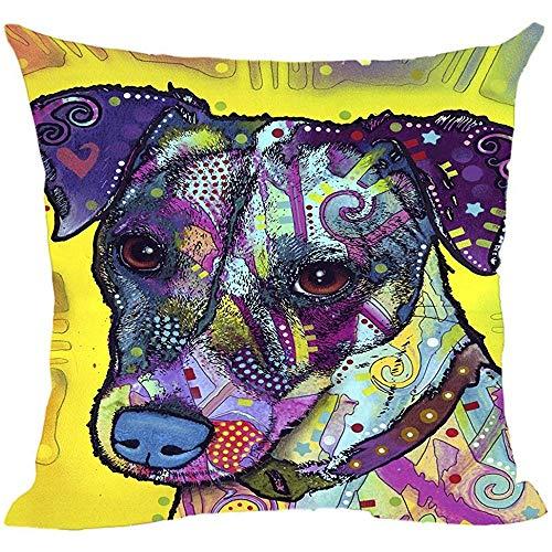 QDAS Pet Dog Jack Russell Terrier kussenslopen voor huisjes en sofa, een goed cadeau voor hondenliefhebbers.