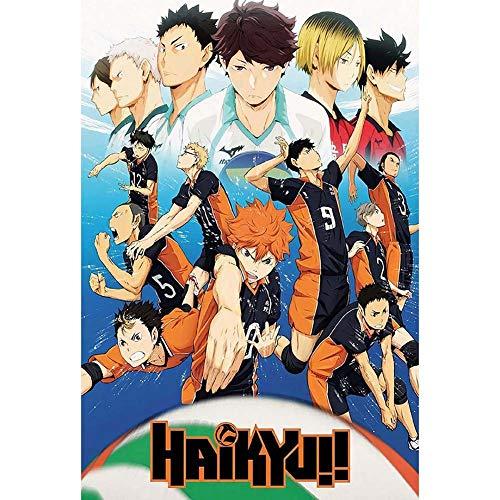 Elibeauty Haikyuu! Anime-Poster, Japan Manga-Poster, Blechposter, Japan Anime-Poster, Comic-Poster, Cartoon-Poster, XL