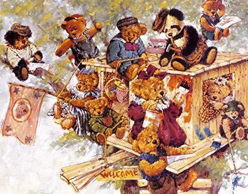 N/A Puzzel 1000 Stukjes Teddybeer En Houten Kist Volwassen Houten Puzzel Mooi Cadeau Educatief Spel Voor Kinderen Intellectuele Uitdaging Puzzel