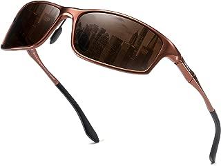 Vintage Polarized Sports Metal Frame Driving Sunglasses for Men 100% UV400 Protection DC8201