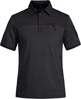 Men's Polo Shirts 3 Button Short and Long Sleeve Cotton...