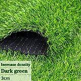 GAPING Tappeto Erboso Artificiale Prato Sintetico Densità Aumentata Adatto for Paesaggi - Giardini - Case Tappeti Altezza 30 Mm Disponibile in 3 Colori (Color : Dark Green, Size : 2x4m)