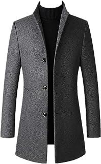 Autunno Inverno Uomo Cappotto Ispessimento Maschio Caldo Stand Collare Manica Lunga Grande Formato Trench Jacket