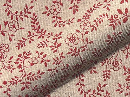 Raumausstatter.de Möbelstoff Walchensee 170L Blumenmuster rot weiß als robuster Bezugsstoff, Polsterstoff bunt Gemustert zum Nähen und Beziehen,Polyacryl, Polyester,beidseitig verwendbar