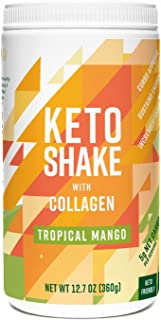 360 Nutrition Keto Protein Powder - Keto Shake Mango Flavor 12.7 oz - Grass Fed Collagen Peptides, MCT Oil, Low Carb Meal ...