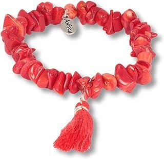 39895191b80ab4 Anisch de la Cara - Donne Braccialetto - Red Coral - Bracciale con Corallo  in Oro