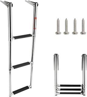 Best Amarine Made 3 Step Stainless Steel Telescoping Boat Ladder Swim Step Review