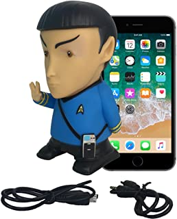 Star Trek Vinyl Action Figure | Mr. Spock Bluetooth Speaker with Microphone - Plays Music & Speaks 9 TOS Phrases voiced by Leonard Nimoy - Unique Collectibles, Memorabilia for Star Trek Fans