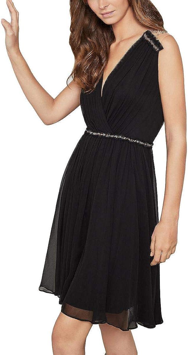 BCBGMAXAZRIA Womens Silk Dress Super sale period cheap limited Embellished Cocktail