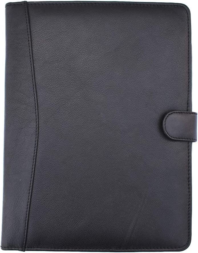 Mesa Mall The Antiq: Genuine Leather Safety and trust Padfolio A4 10x13i Document