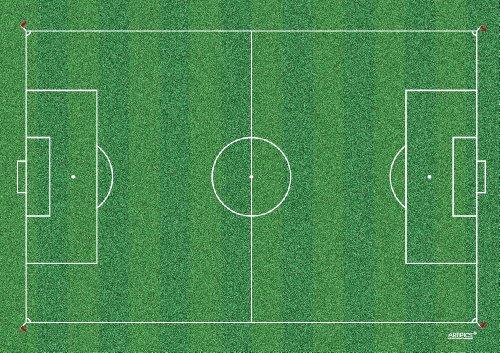 Tischsets Platzsets abwaschbar Fussballfeld von ARTIPICS 4er-Set Platzdeckchen Kunststoff 42x30 cm, für kleine und große Fußball-Fans