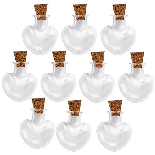 Las Mini Botellas De Vidrio Tarros Corazón Viales Botellas Deseo Hacer El Amor Nota 10pcs Corcho