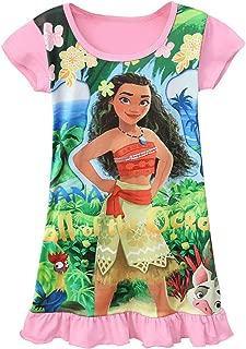 AOVCLKID Moana Comfy Loose Fit Pajamas Girls Printed Princess Dress