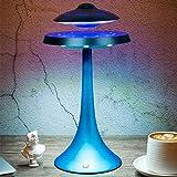 AJH Bluetooth suspensión magnética del Altavoz Luces y Gira el LED UFO casero Portable pequeño Equipo de música de Gran Volumen Flotante Altavoz Creativo de Alta tecnología-Regalo