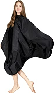 WM BEAUTY Hair Cutting Salon Cape Hair Styling Cape with Snap Closure 58x50 Inches Water Repellent Black