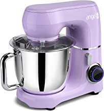 Mini angel Stand Mixer,10-Speed 5.5QT Kitchen Electric Mixer with DIY Color Stickers,Tilt-Head Food Mixer with Dough Hook,...