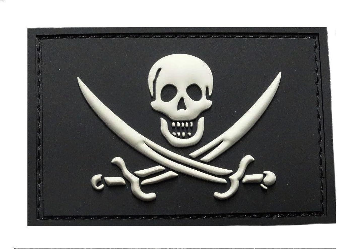 Jolly Roger Calico Jack PVC Rubber Morale Hook PVC Patch