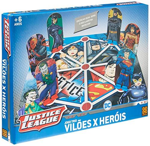 Jogo DC Comics Trio Vilões x Heróis, Grow, Multicor