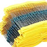 Kit de conjunto de resistores con 600 piezas, 30 Valores de 1ohm – 1 M de Ohm 1/4 W 1% p...