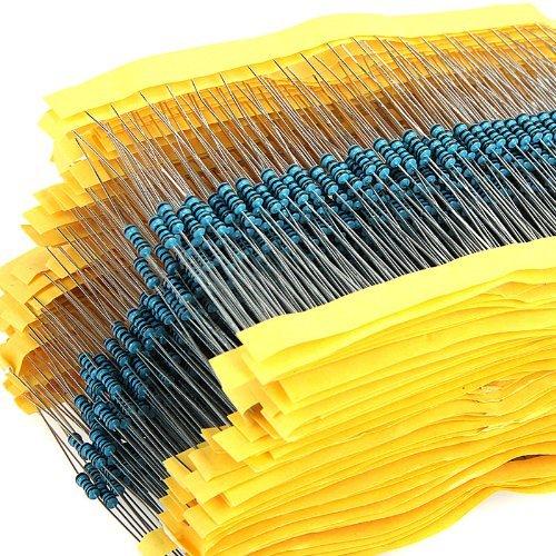 600pcs 30 Werte 1Ohm - 1M-Ohm 1/4W 1% Metallfolie Widerstand WiderständeSortiment Kit Set