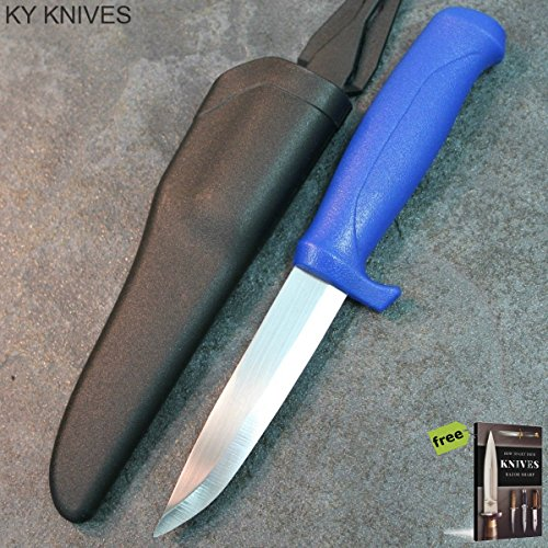 """8.25"""" Fisherman's Best Bait Fillet Hunting Tactical Fixed Blade Sharp Knife With Sheath - HUNTING BLUE 211104 + Free eBook By SURVIVAL STEEL"""