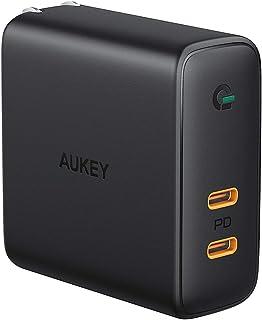 AUKEY AUKEY(オーキー) USB充電器 Focus Duo 63W Type-C ブラック PA-D5-BK [2ポート /USB Power Delivery対応]