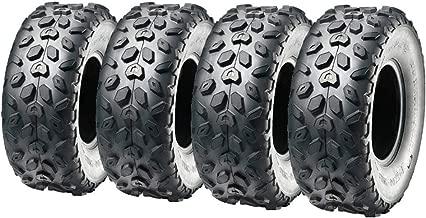 MMG Set of 4 All Terrain Reinforced Tubeless Tires 145/70-6 (145x70x6) P120 Diamond Tread ATV UTV Go Kart Buggy Mini Bike