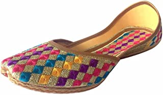 Women's Phulkari Punjabi Jutti Khussa Shoes Ethnic Shoes Rajasthani Mojari