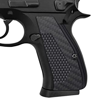 Coolhand 3K Carbon Fiber Grips Compatible with CZ 75/85 Compact, Custom Screws Included, SPC-CFB3