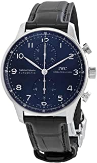 IWC Portugieser Automatic Chronograph Blue Dial Mens Watch IW371491