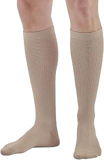Sponsored Ad - Ames Walker AW Style 104 Men`s Microfiber Dress 20 30 Knee High Socks Tan Large