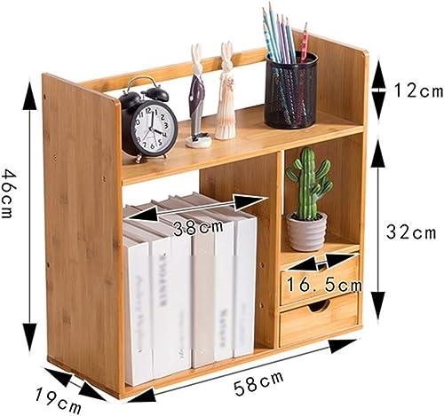 QFFL zhuomianshujia Desktop-Aufbewahrungsbox aus Holz Bücherregal Büro-Aufbewahrungsbox Schreibtischschubladen-Typ (4 Arten) Bücherregale (Farbe   D2)