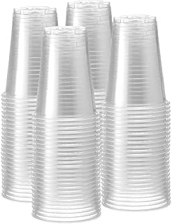[240 Pack - 16 oz.] Clear Disposable Plastic Cups - Cold Party Drinking Cups