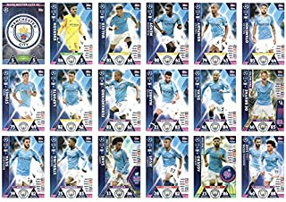 Match ATTAX Champions League 2018/19 Manchester City Full 18 Card Team Set