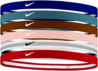 Nike Jacquard Multi Color Hairbands/Headbands 6-PK Unisex - One Size Fits All