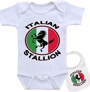 Italian Stallion Boutique Baby Bodysuit Onesie & Matching bib