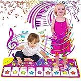 Sinwind Klavier Matte, Piano Mat mit 8 Tierstimmen Klaviertastatur Spielzeug Musik Matte, Musikmatte Kinder Baby Spielzeug für ab 1–6 Jahre Jungen Mädchen