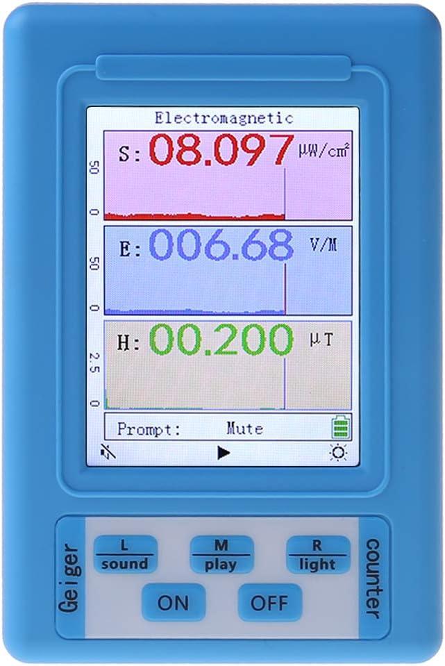 Detector de radiación electromagnética Monitor de dosímetro Probador de radiación Medidor EMF Multímetro digital Voltímetro de voltaje Amperímetro de corriente Ohmios Medidor de potencia de de