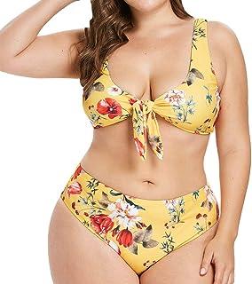 Hotelvs Donna Costume da Bagno Push-up Vita Alta Bikini Set Floreale Tankini Taglie Forti
