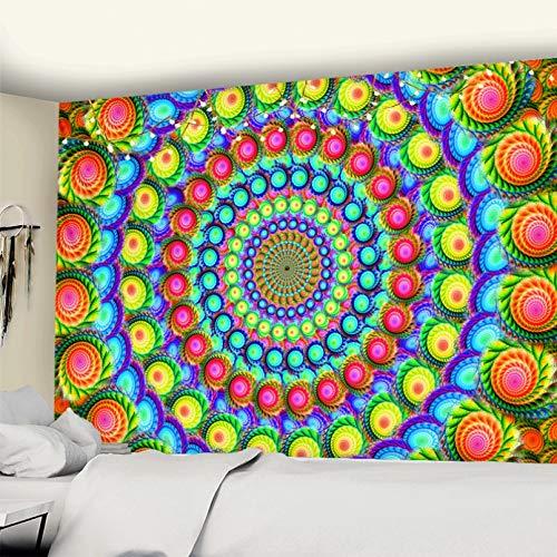 N/A Tapiz De Impresión 3D Tapiz De Mandala Colorido para Colgar En La Pared Alfombra De Playa Tienda De Campaña Colchón De Viaje Decoración Bohemia Hippie