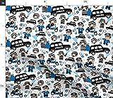 Polizei, Jungen, Polizeiauto, Autos Stoffe - Individuell