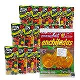 Pelonetes Dulces Mexicanos 3 packs y de relgalo una bolsa de Paletas Enchiladas Luxus