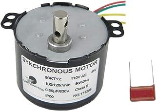 CHANCS 50KTYZ 同期ギヤードモータ AC 110V トルク 0.7Kg.cm 6W パワースピード 100-120RPM