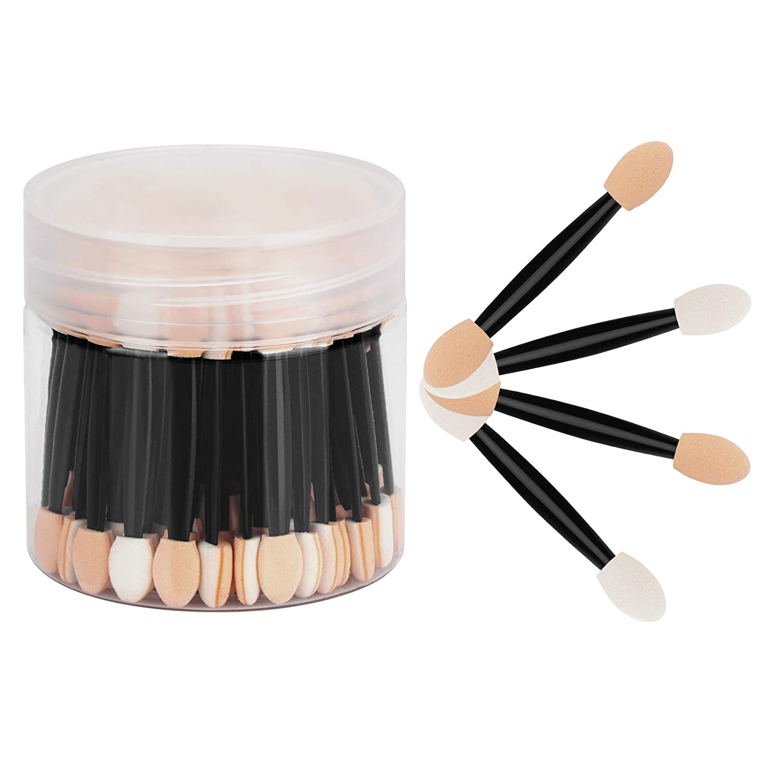 CHEFBEE 80pcs Eyeshadow Applicators Indefinitely D with Disposable Container Spasm price