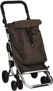Playmarket GO UP Folding Shopping Cart with Swivel Wheels, Chocolate