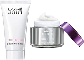 Lakmé Absolute Perfect Radiance Skin Lightening Facewash, 50g & Lakmé Absolute Youth Infinity Skin Sculpting Day Creme, 50g