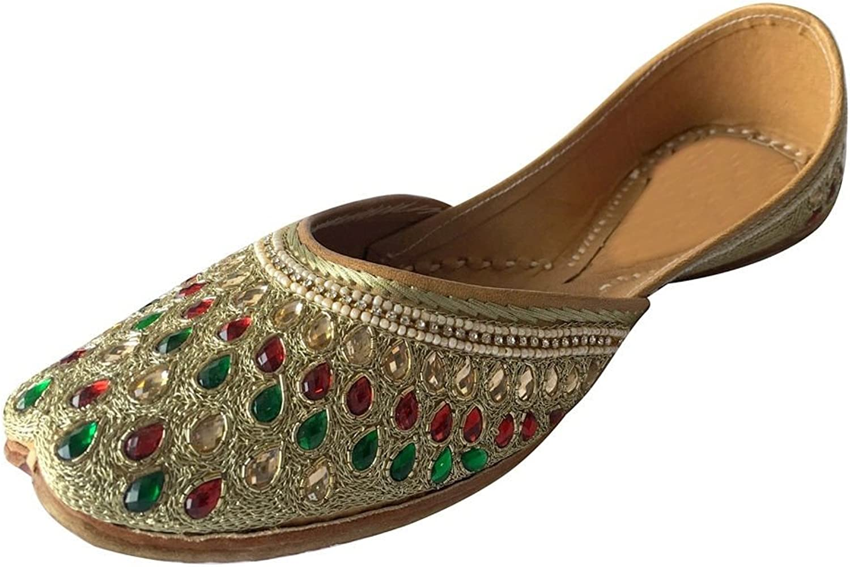 Step n Style Leather Mojari Women shoes Flip-Flops Khussa Flat Salwar Suits Juti